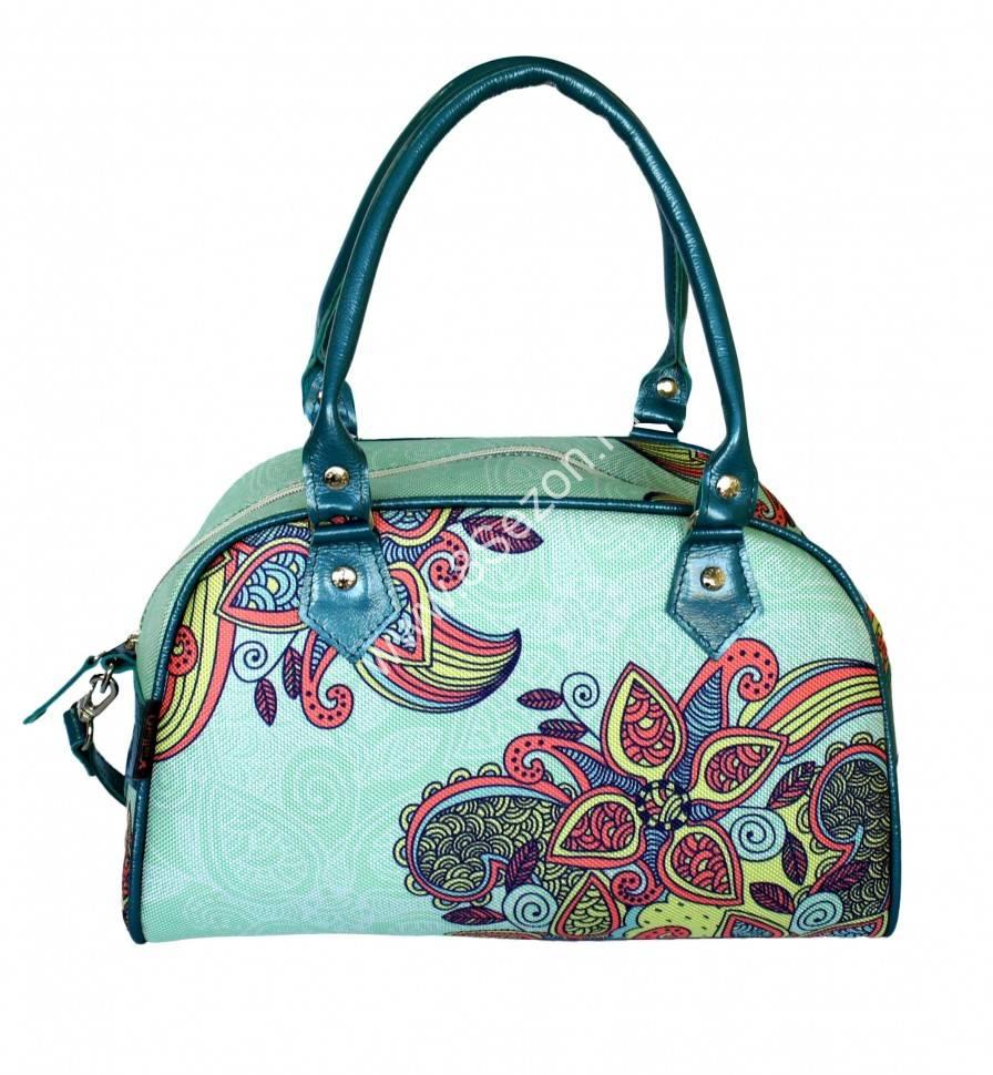 Женская сумка FLAVIA spise 013  2550 бирюзовый  орнамент